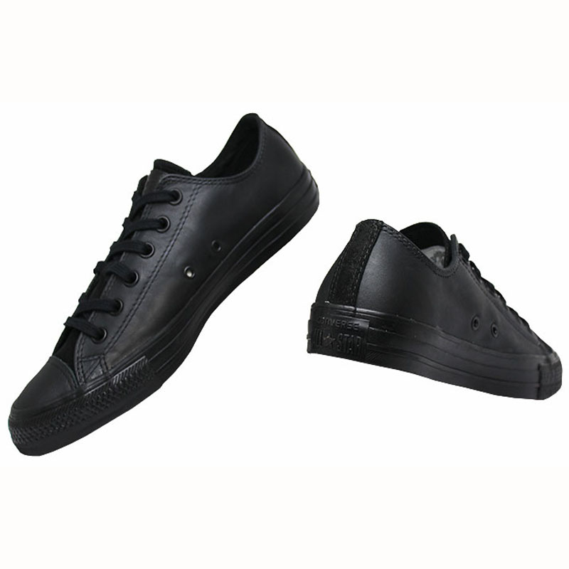 All star chuck taylor leather ox preto 2