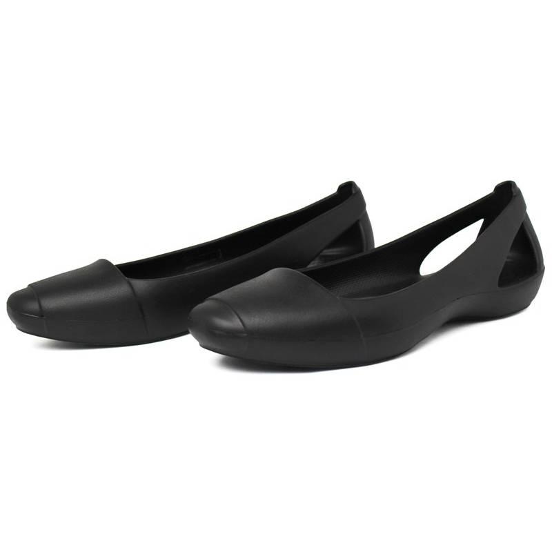 Crocs sienna flat black 2