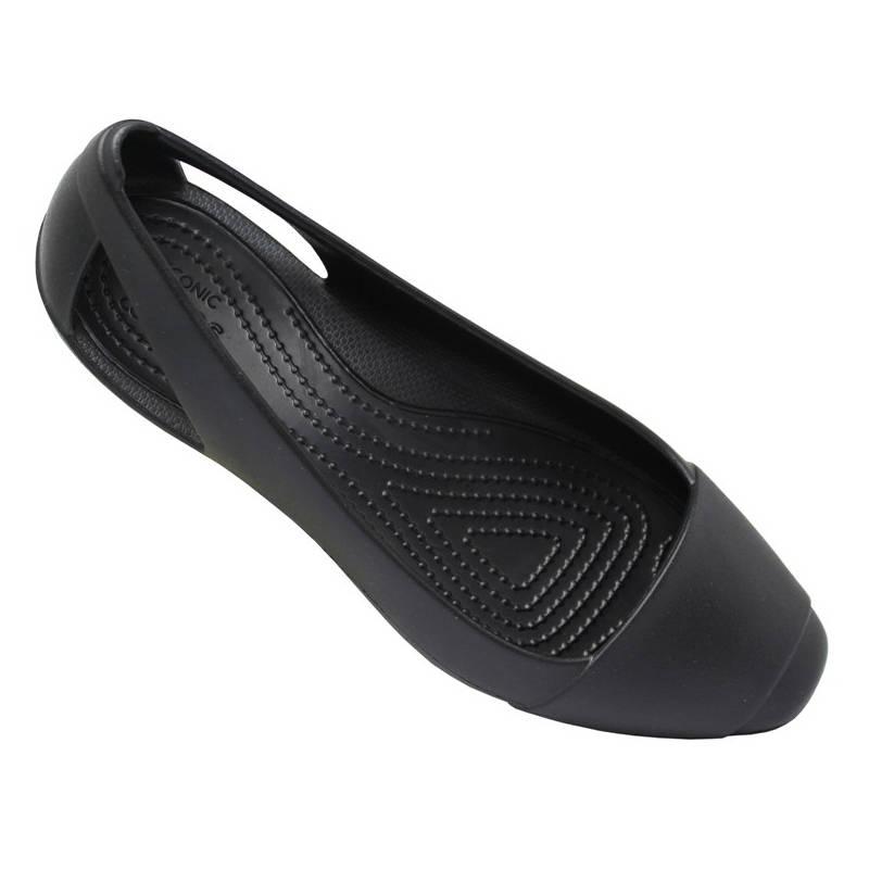 Crocs sienna flat black 5