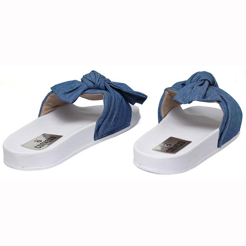 Chinelo convexo slide com no jeans 5