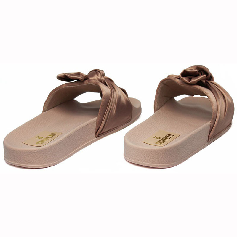 Chinelo convexo slide com no nude 4