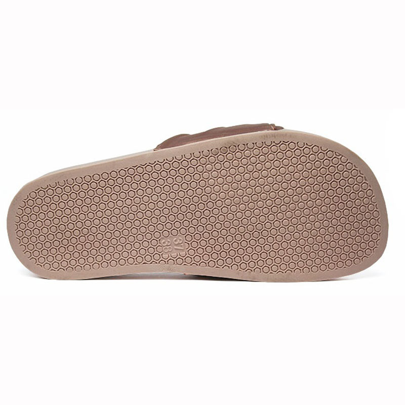 Chinelo convexo slide com no nude 5