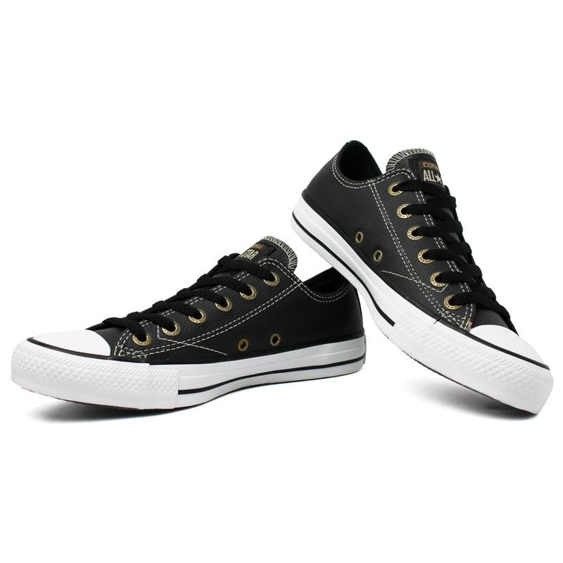 ad69a221907 All star european leather ox preto branco 1