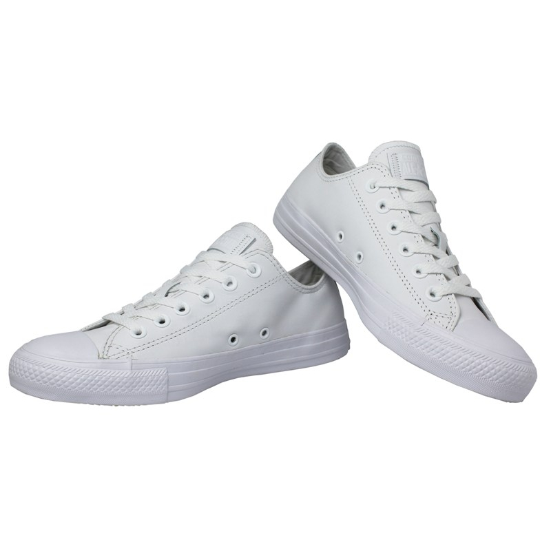 All star monochrome leather ox branco 1