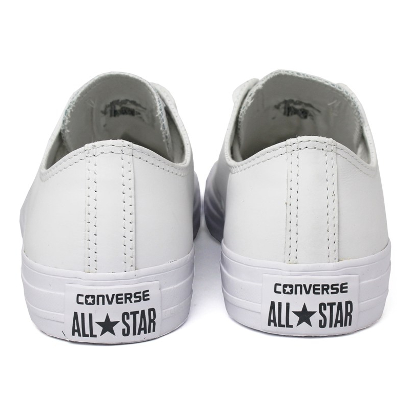 All star monochrome leather ox branco 2