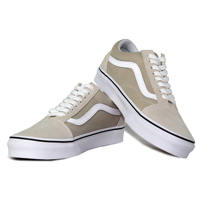 Tenis vans old skool silver lining true white 2