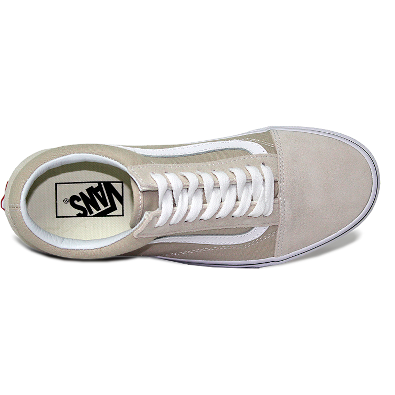 Tenis vans old skool silver lining true white 4