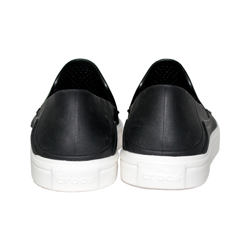 Crocs masc citilane roka slip on black white 3