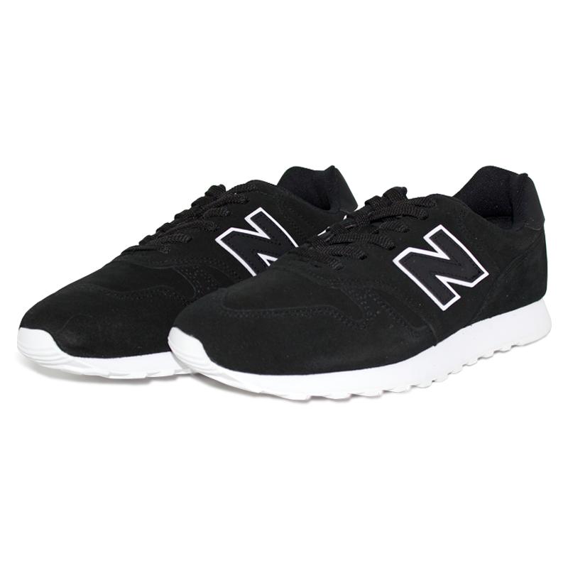 New balance 373 masculino preto branco 1