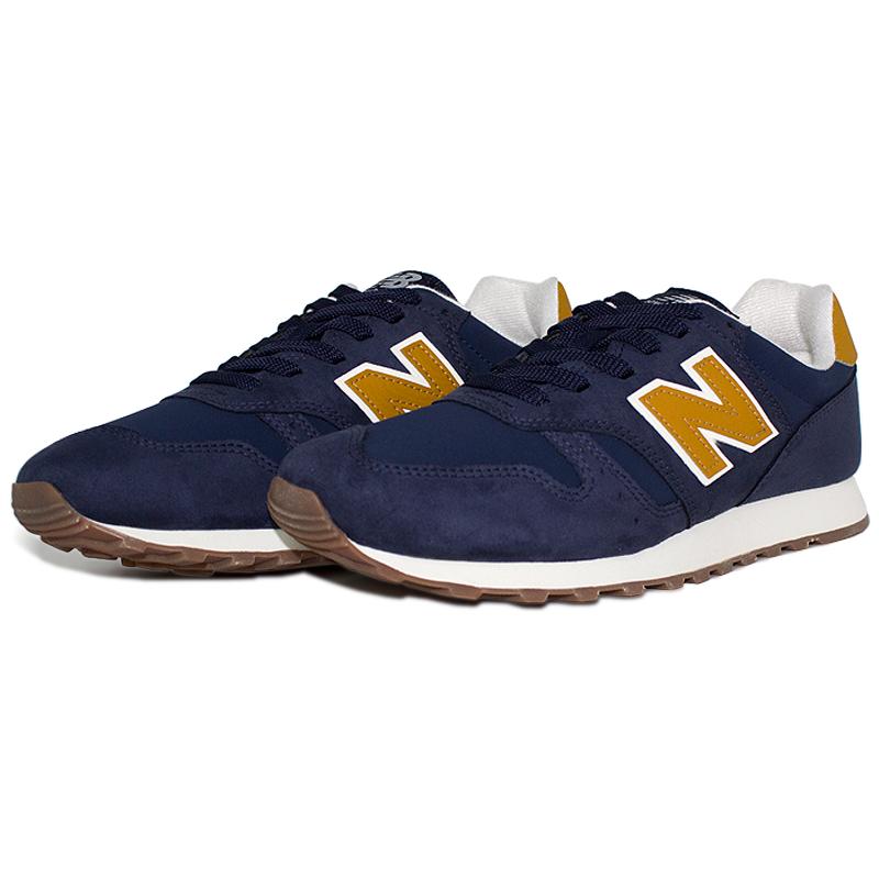 New balance 373 masculino azul laranja 2