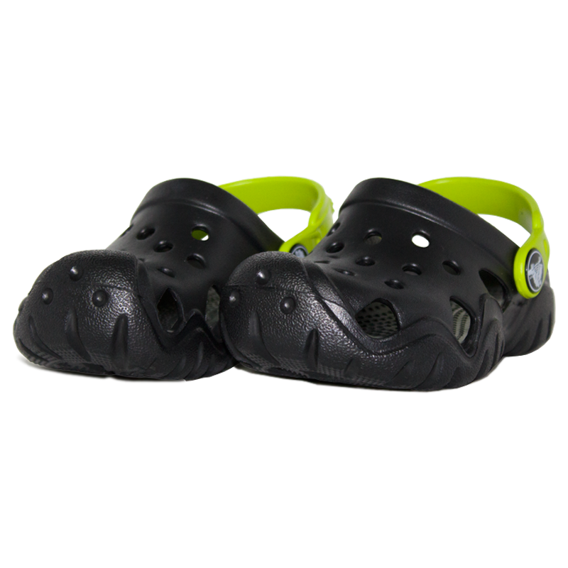 Crocs kids swiftwater clog black volt green 1