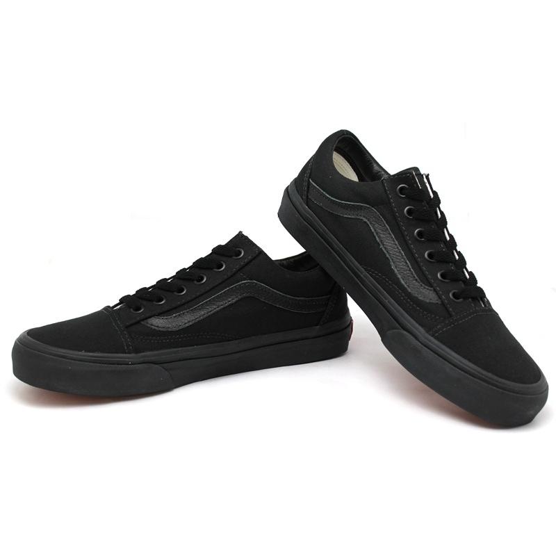 Tenis vans old skool monochrome black black 1