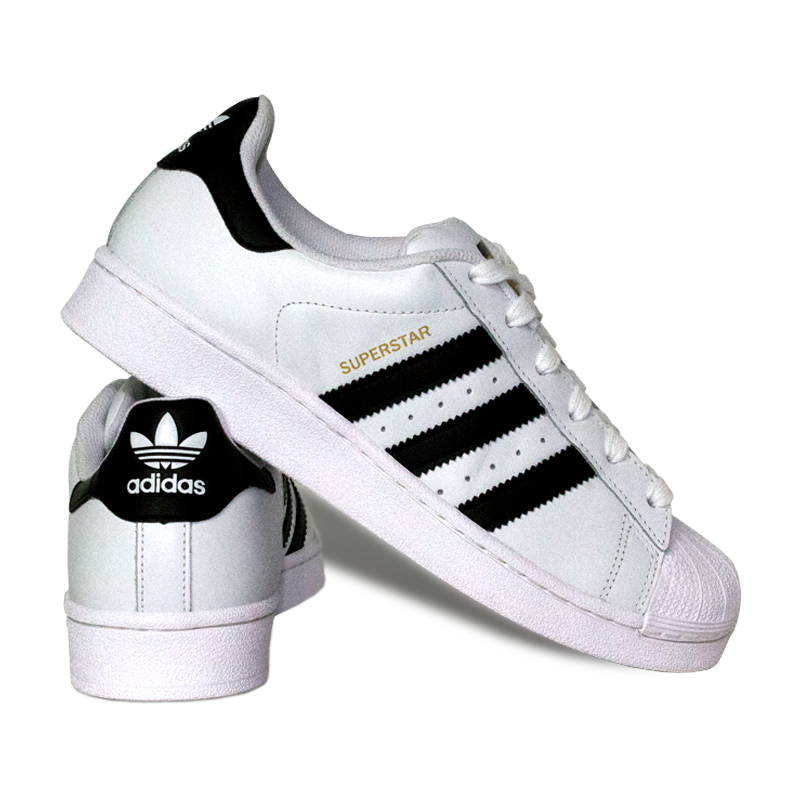 Adidas superstar foundation black white 1
