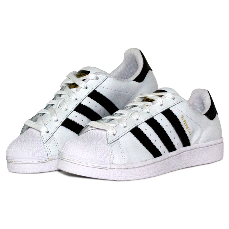 Adidas superstar foundation black white 3