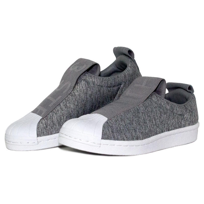 Adidas superstar slip on grey 2