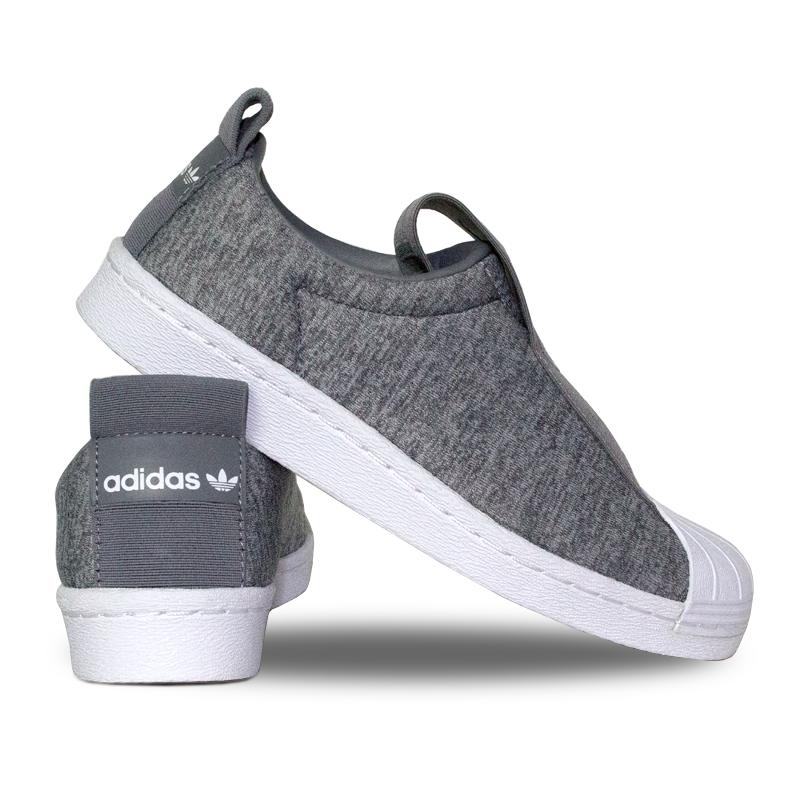 Adidas superstar slip on grey 3