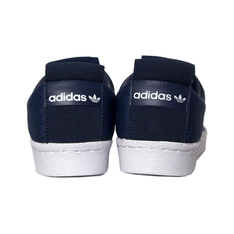 Adidas superstar slip on blue 2