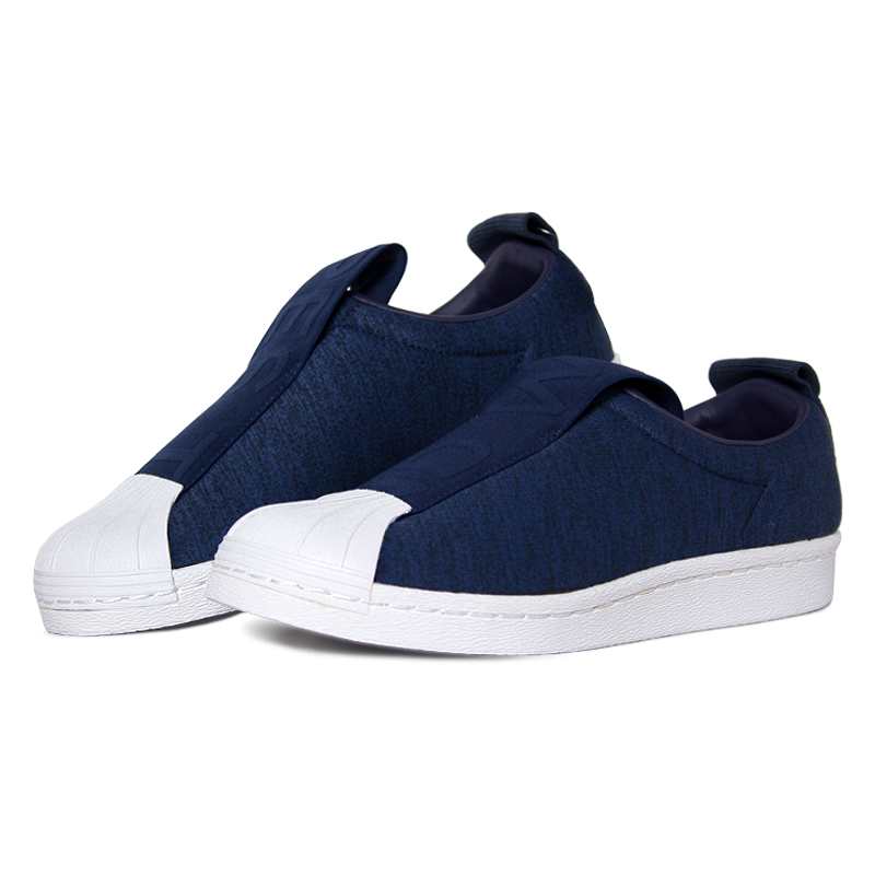Adidas superstar slip on blue 3