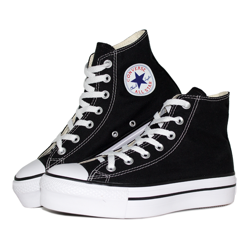 All star platform hi preto branco 3