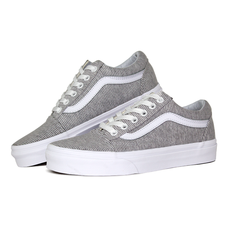 Tenis vans old skool jersey gray true white 2