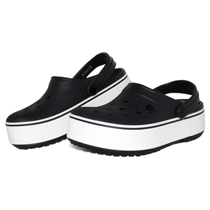 Crocband platform black white 1