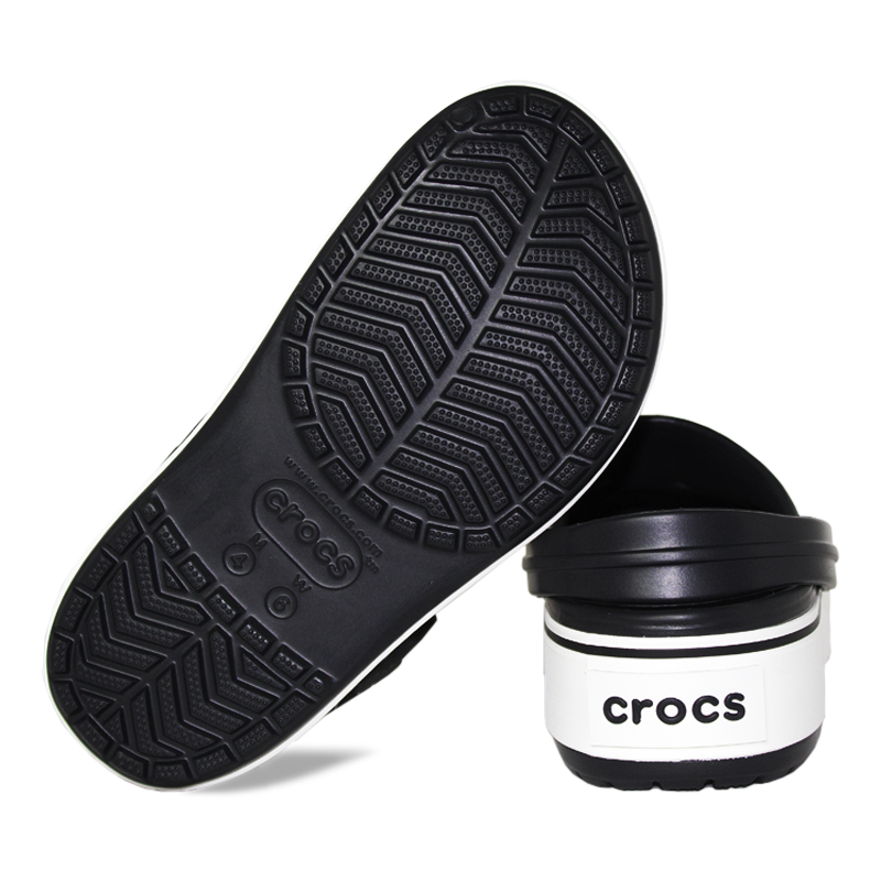 Crocband platform black white 3