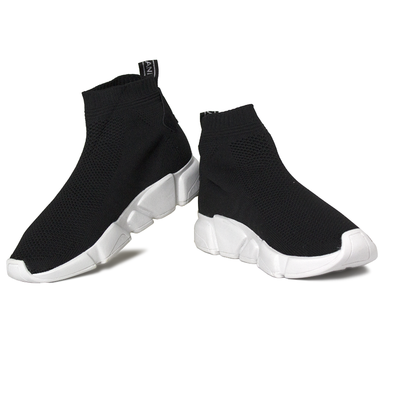 Convexo sock boot fita black white 1