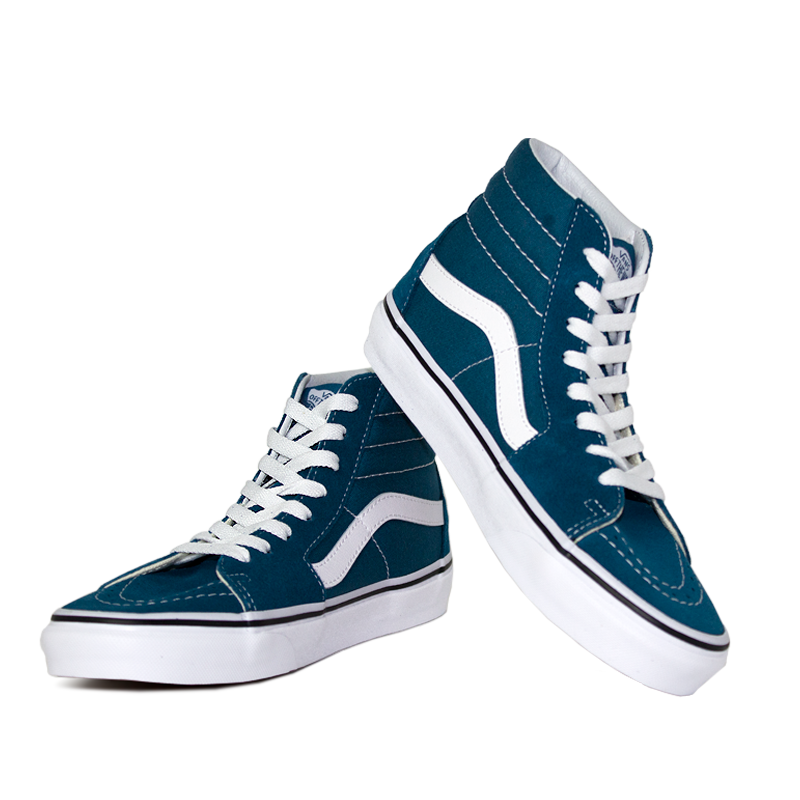 Tenis vans sk8 hi corsair blue true white 3