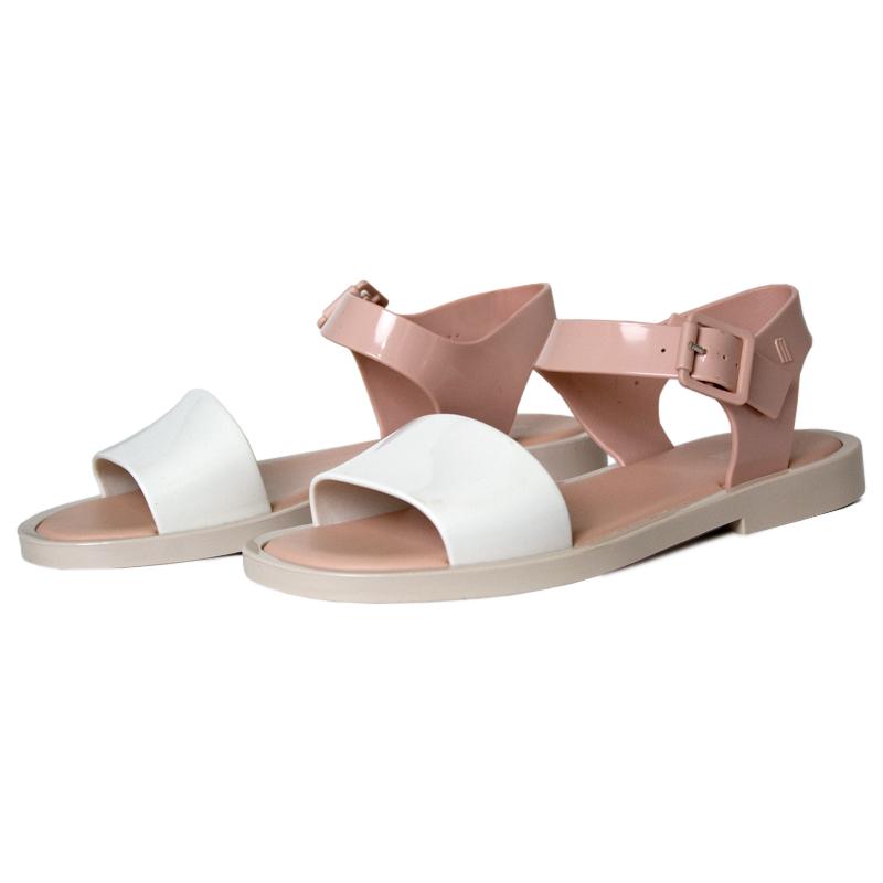 Melissa mar sandal branco rose bege 2