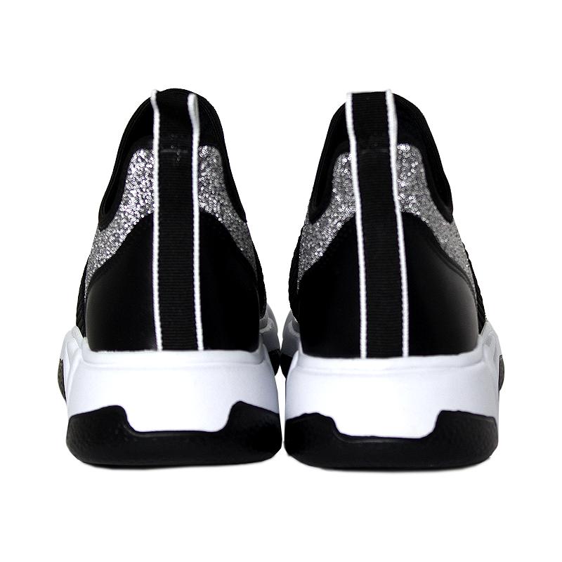 Sock sneacker trend convexo lurex preto branco 2