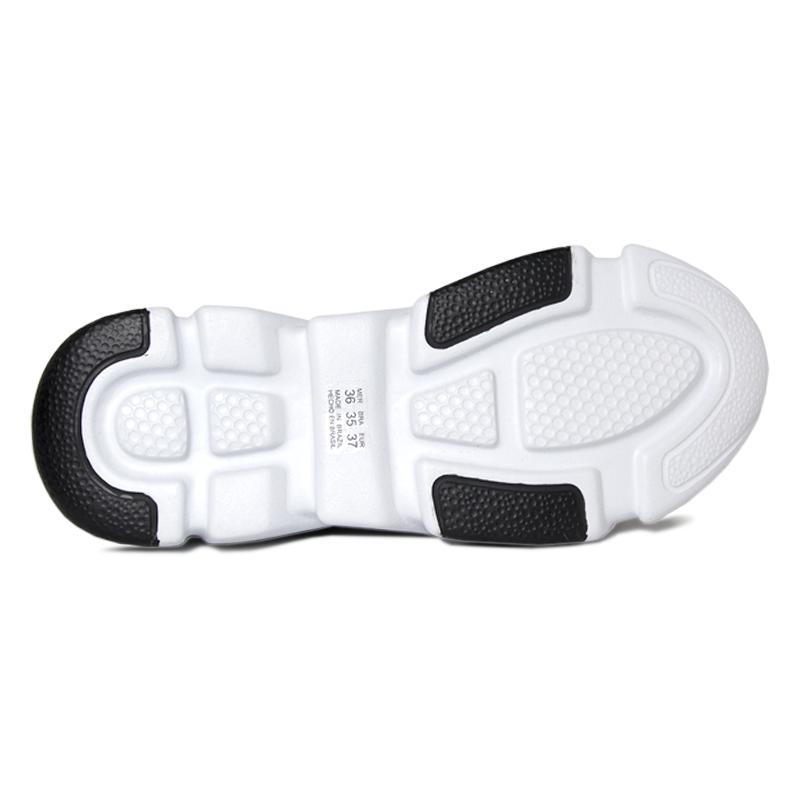 Sock sneacker trend convexo lurex preto branco 3