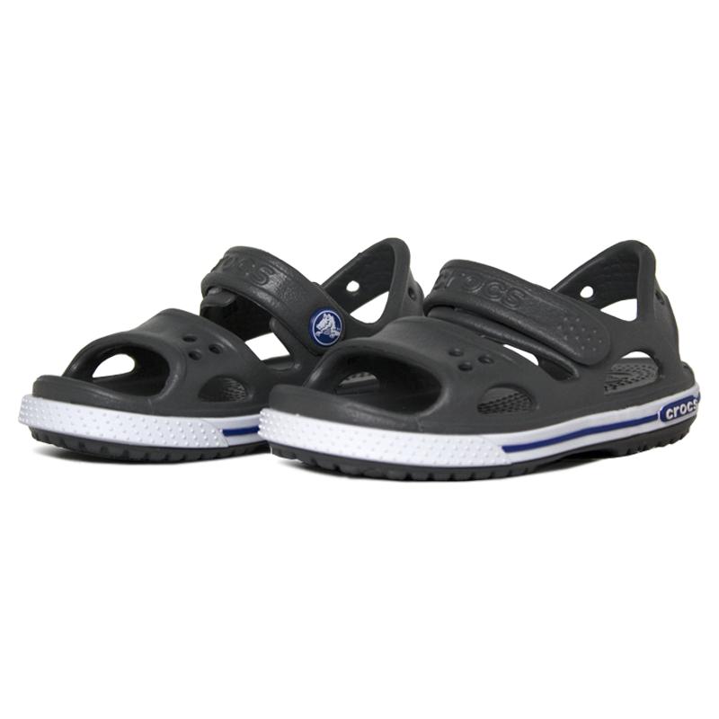 Crocband ii sandal slate grey blue jean 1