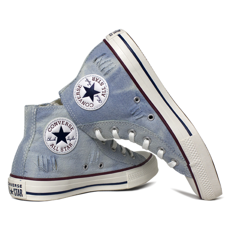 All star chuck taylor jeans destroyed blue 3