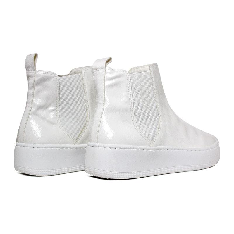 Convexo boot verniz branco 2