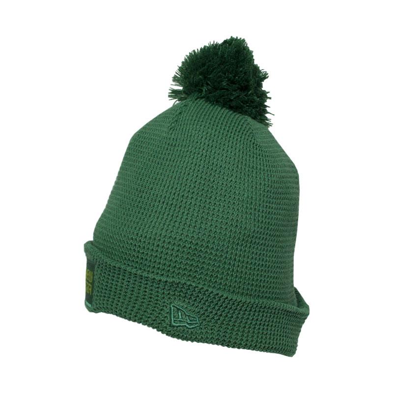 Gorro new era pom essentials fleece verde militar 1