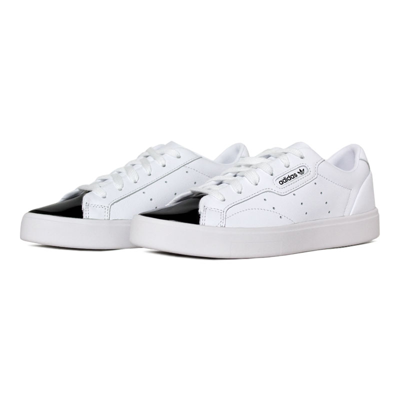 Tenis adidas sleek w white black 1