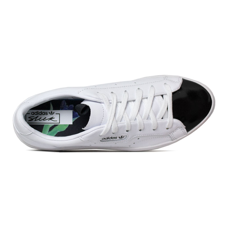 Tenis adidas sleek w white black 2