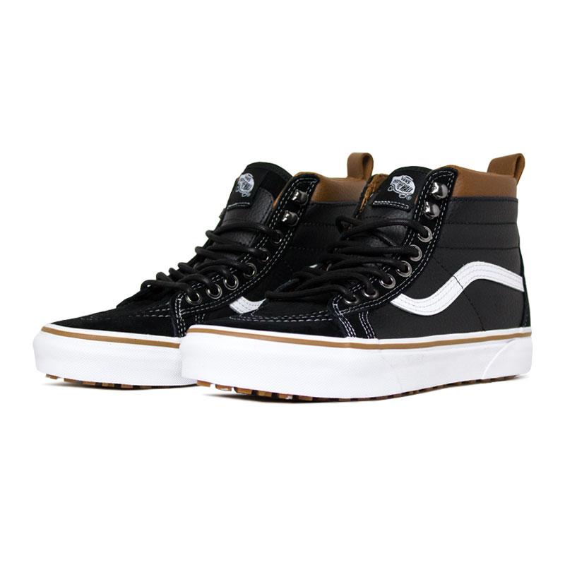 Tenis vans sk8 hi mte leather black true 1