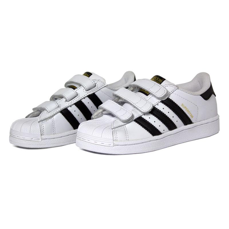 Adidas superstar foundation kids black white 1