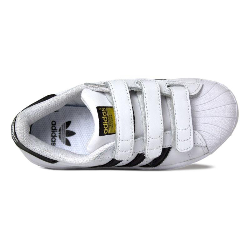 Adidas superstar foundation kids black white 2