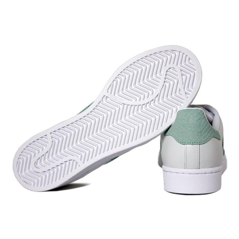 Adidas superstar branco verde claro 2