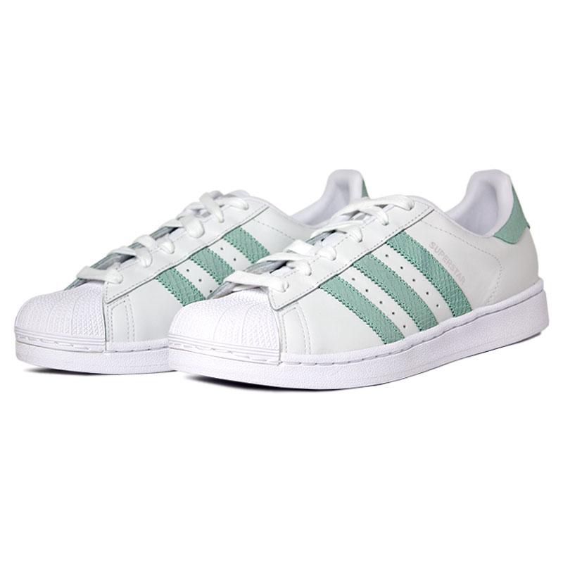 Adidas superstar branco verde claro 3
