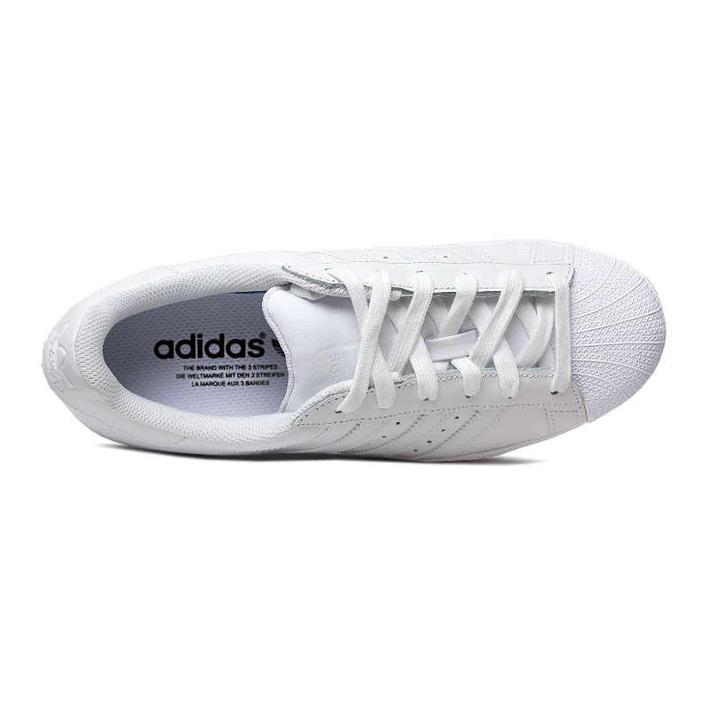 Tenis adidas superstar white white 3