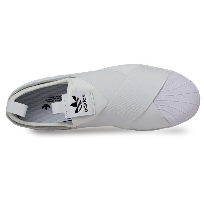 Tenis adidas superstar slip on white 1