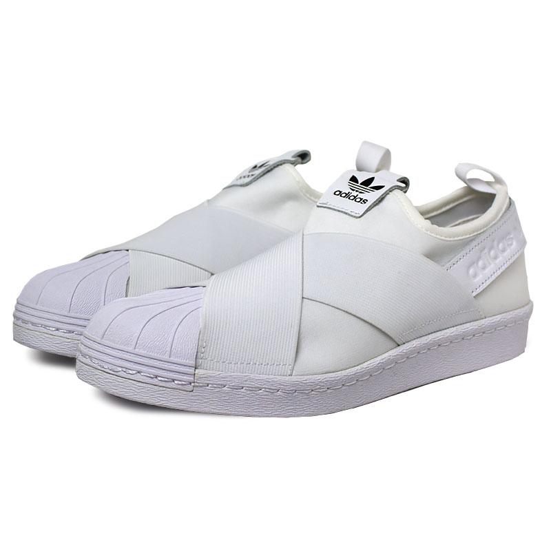 Tenis adidas superstar slip on white 2