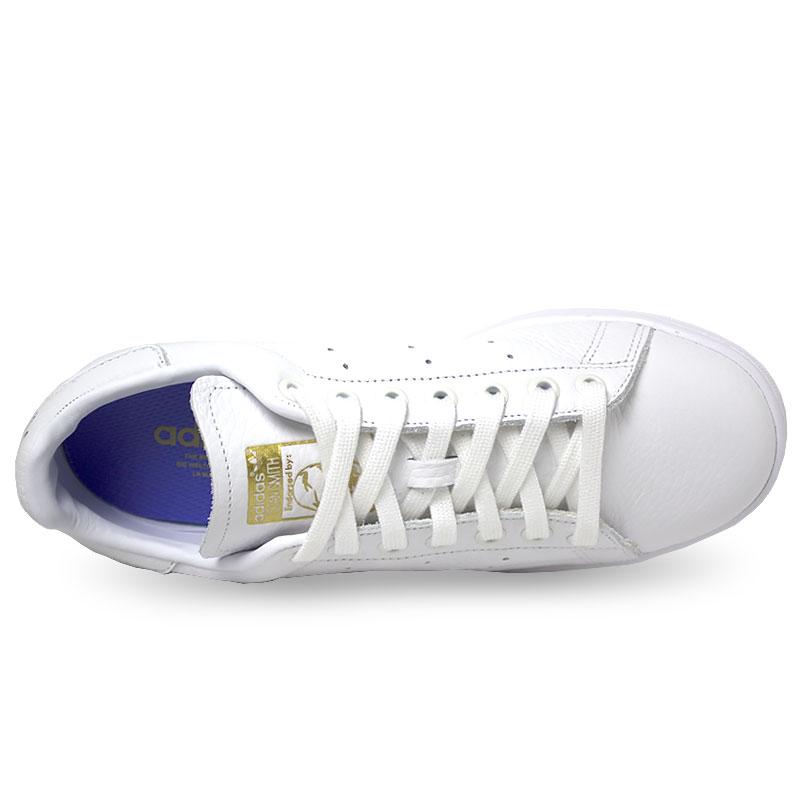 Tenis adidas stan smith white lilac gold 2