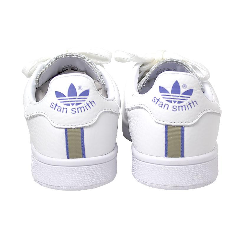 Tenis adidas stan smith white lilac gold 3