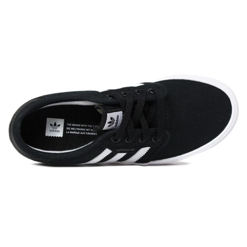 Tenis adidas seeley j black white 1