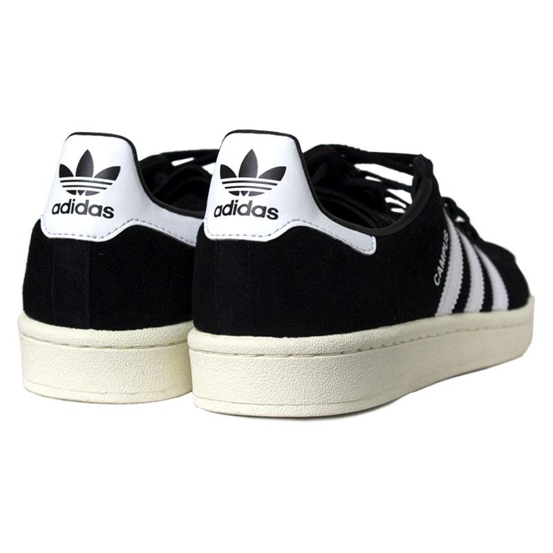 Tenis adidas campus black white 4
