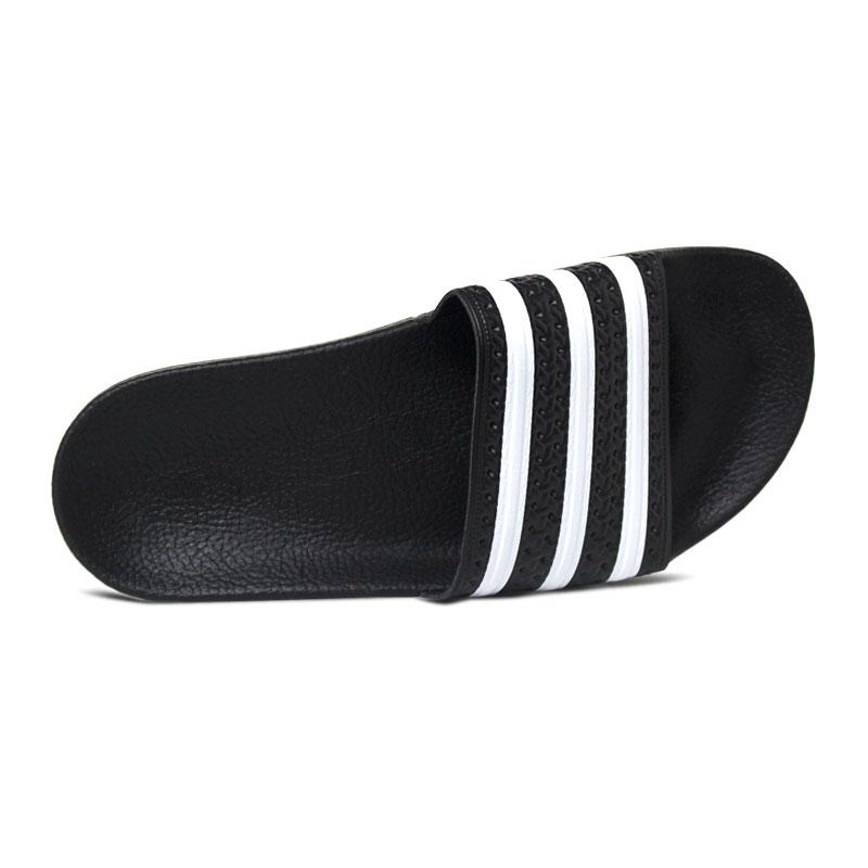 Chinelo adidas adilette black white 2